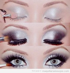 Maquillaje ojos paso a paso con fotos