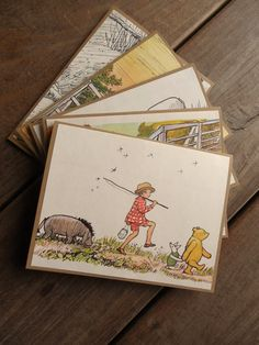 Vintage Winnie the Pooh Story Book Invitations-Winnie the Pooh Birthday or Baby Shower Invitations by Lemon Drops and Lilacs on etsy.com