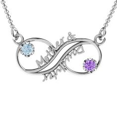 Mother and Daughter Infinity Pendant #jewlr