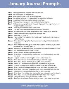 Thoughtful Journal Prompts for January (and the New Year Here are 31 more journal prompts for January to kick off your year with thoughtful direction!Here are 31 more journal prompts for January to kick off your year with thoughtful direction! January Journal Prompts, Journal Topics, Journal Writing Prompts, My Journal, Journal Prompts For Teens, Journal Ideas, Journal Quotes, Christian Journaling Prompts, Journal Questions