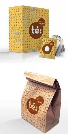 Fun packaging: El Ocho by alejandra acosta chávez Love Design, Design Design, Graphic Design, Personalized Lunch Bags, Press Kits, Tea Packaging, My Tea, Press Release, Advertising Design