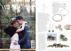 Our 'Grace' and 'Anna Bella' personalised bracelets featured in Your Hampshire & Dorset Wedding magazine Personalised Bracelets, Hampshire, Annie, Love Story, Sterling Silver Jewelry, Groom, Magazine, Wedding, Beautiful