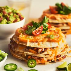 Veggie Quesadilla Cake with Taco Nacho Shredded Cheese Recipe from Saputo Paleo Keto Recipes, Sugar Free Recipes, Cheese Recipes, Yummy Recipes, Yummy Food, Veggie Quesadilla, Quesadillas, Olives, Taco Spice Mix