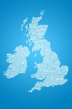 British Isles in words