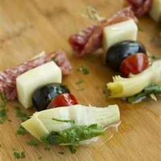 Antipasto on a Stick Allrecipes.com