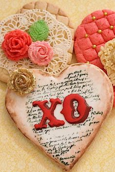 Valentine stamped cookie