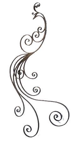 Iron Scroll Wall Art - Ideas on Foter Peacock Sketch, Peacock Drawing, Peacock Tattoo, Peacock Art, Peacock Design, Mandala Tattoo, Henna Tattoos, Body Art Tattoos, Tatoos