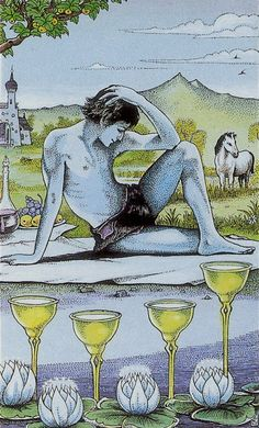 Four of Cups - Cosmic Tarot by Norbert Losche