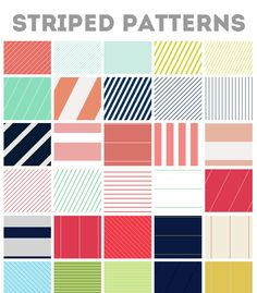 Striped Web Backgrounds Photoshop Pattern File by AngieMakes