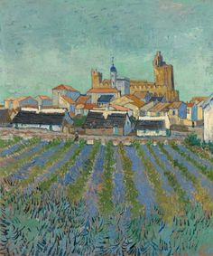 Vincent van Gogh View of Saintes-Maries-de-la-Mer 1-3 June 1888 Arles Kröller-Müller Museum, Otterlo