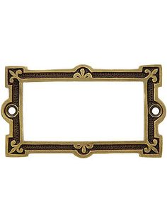 Fleur de Lis Label Holder in Antique-By-Hand Finish | House of Antique Hardware