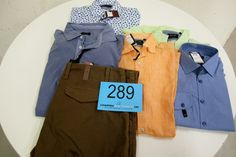 7 stk. skjorter, 2 stk. bukser. Str. 42-46. Vejl. Udsalgspris fra kr. 600-1099 pr. stk. 1 stk. jakke str. 50, model Black Formal MW