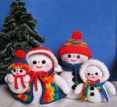 Pdf Crochet Pattern THE SNOW FAMILY by bvoe668 on Etsy, $7.00