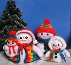 Pdf Crochet Pattern THE SNOW FAMILY von bvoe668 auf Etsy