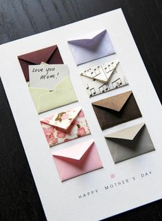 Mother's Day Card Music Notes and Cherry Blossoms – Tiny Envelopes Card Mother's Day Card: Music Notes and Cherry ~ by LemonDropPapers on etsy. Think about paper projects with a selection of several/many tiny envelopes Diy Crafts For Gifts, Paper Crafts, Book Crafts, Tarjetas Diy, Mothers Day Crafts, Gifts For Mothers Day, Mother Birthday Gifts, Mothers Day Ideas, Birthday Box