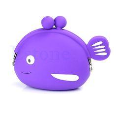 Purple Cartoon Cosmetic Bags | ... Cartoon Animal Shape Silicone Coin Purse Cosmetic Bag Wallet Cute