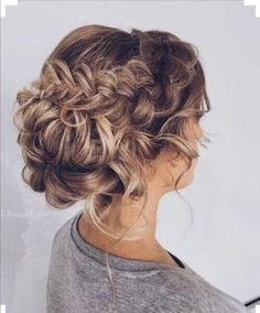 Knot and braid #knot #braid #curls #bridesmaid #curls #brown #blonde #hairstyle #hairstyles