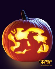 """Sleepy Hollow"" pattern from the Pumpkin Masters Carving Party Kit."