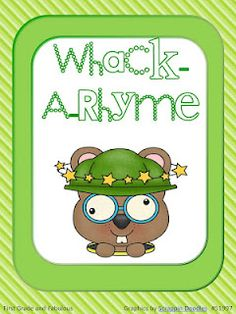 Whack-A-Rhyme  Love the idea of this but need to adapt it to 2nd grade rhymes--the ones that aren't spelled the same--always throw my kids on standardized tests