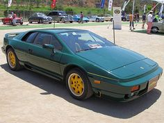 Lotus Esprit Turbo 1991 green with yellow wheels Lotus Esprit, Weird Cars, Model Photos, Grey Leather, Over The Years, Classic Cars, Automobile, Things To Come, Chic Bathrooms