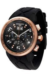 Jorg Gray JG5600-22 Men's Watch Chronograph Rose Gold Bezel With Integrated Black Silicone Strap