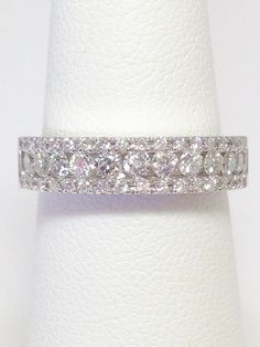 0.70CT Diamond Wedding Band Anniversary Ring Art by FineJewlers