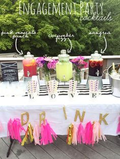 Throwing a Summer Engagement Party - Eat Yourself Skinny!