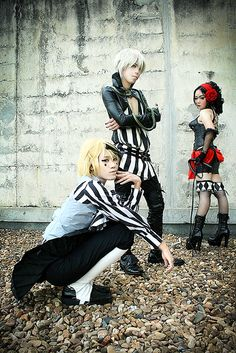 amazing cosplay of the Noah's Ark Circus in Black Butler! Dagger, Snake and Beast <3