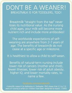 Breastfeeding toddlers is okay and completely natural! Lets normalize it