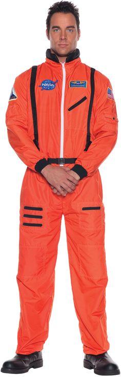f2890c6ce725 Astronaut (Orange) Adult Costume