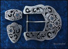 Academy of Western Artists 2015 Engraver of the Year - Pieces For Sale Custom Belt Buckles, Western Belt Buckles, Western Belts, Western Jewelry, Cowboy Spurs, Cowboy Gear, Sewing Leather, Leather Craft, Silver Work