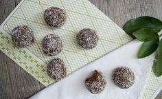 Well Nourished ⎮ Nut-free Cacao Bliss Balls, great lunchbox treats