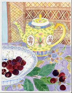 teapot and cherries GABBY MALPAS