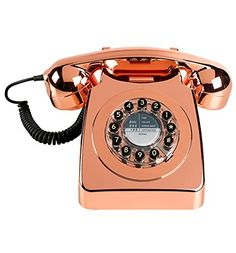 Find retro telephones at Exit Interiors. Buy stylish replica retro telephones at Exit Interiors. Copper Rose, Rose Gold, Birmingham, Copper Home Accessories, Tech Accessories, Samsung Accessories, Retro Phone, Oliver Bonas, Retro Home Decor