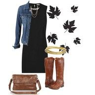 a wonderful look with a basic black dress