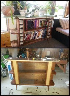 Before/After Plant stand #olddoors #diy
