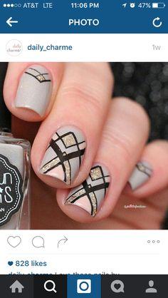 Elegant geometric nails