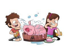 Dipper,Mabel y pato♥