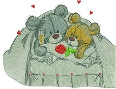 Just married embroidery design. Machine embroidery design. www.embroideres.com