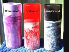Check out this item in my Etsy shop https://www.etsy.com/listing/522726191/hand-painted-bridesmaid-vasespink-blue