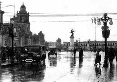 El Zócalo a principios del siglo XX