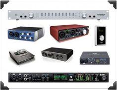 audio interface options http://ehomerecordingstudio.com/recording-studio-equipment-list/