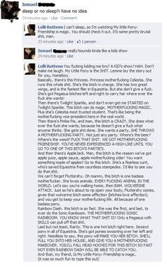 my little pony- I <3 MLP  don't mess w/ Bronies. they'll trun into what Twilight does best. lecture people!