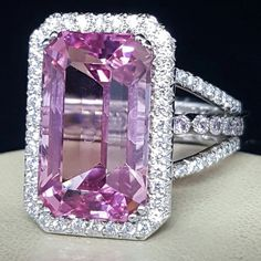 We've completely ignored Erica's love of pink! A 13ct #PinkTourmaline in this case. #EricaCourtney #DropDeadGorgeous #JewelerToTheStars #DecaturIL #BlooomingtonBling #JackLewisJewelers