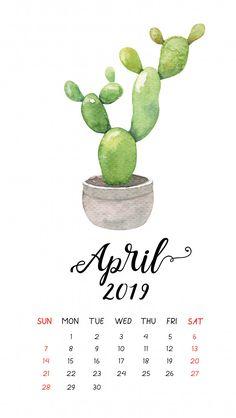 Watercolor cactus calendar for april Premium Vector Calendar For April, Kids Calendar, Calendar Pages, 2021 Calendar, Calendar Wallpaper, New Wallpaper, Iphone Wallpaper, Desktop Calendar, Kalender Design