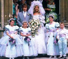 1989 wedding of Rolling Stones bassist Bill Wyman and Mandy Smith.