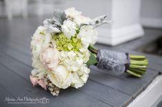 pink + green + gray wedding