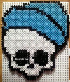 DECO.KDO.NAT: Perles hama: crâne invisi billy des monster high