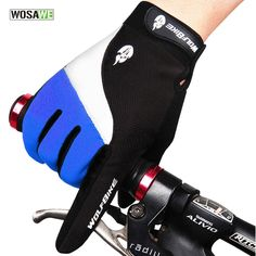 Guantes Ciclismo Wosawe Outdoor Full Finger Gloves Cycling Road Mountain Bike Bicycle Mtb Dh Downhill Off Glove Mittens Luvas