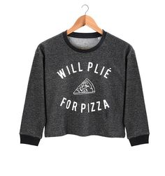 Cloud & Victory dancewear Spring/Summer '16 / The Pizza Cropped Sweater (Heather Black) / www.cloudandvictory.com